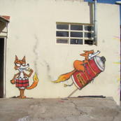 Paint dinamite foxes