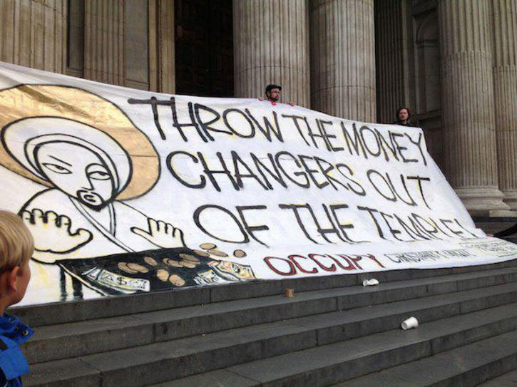 Banner for Occupy demo
