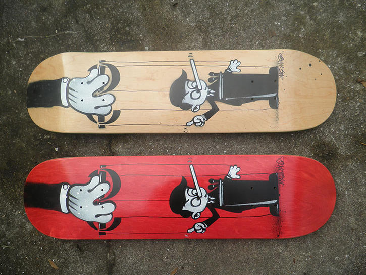 Skateboards for Gaza